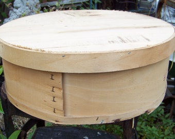 Vintage Round Wooden Cheese Box Great for Repurpose and Remakes Masculine Man Cave Decor