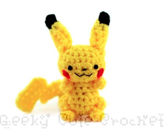 Electric Pika Amigurumi Crochet Toy Plush
