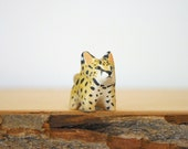 Serval cat pocket totem figurine