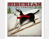SIBERIAN Husky Dog CUSTOM PERSONALIZED Premium Archival Giclee Print Signed Siberian