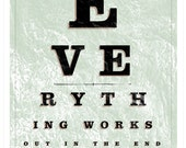 The Optimist Optometrist Eye Chart, Collections Series Limited Edition Art Print
