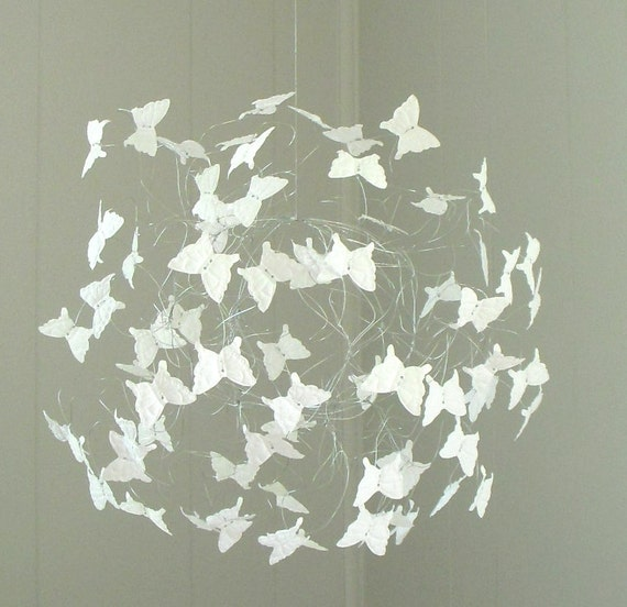 butterfly mobile baby shower gift nursery mobiles. Black Bedroom Furniture Sets. Home Design Ideas