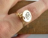 Gold Om Charm Ring