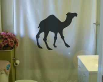 dromedary camel shower curtain desert one hump caravan arabia gamal bathroom decor kids bath curtains custom size long wide waterproof