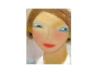 """Oil Painting on canvas original  Portrait 8""""x10"""""""
