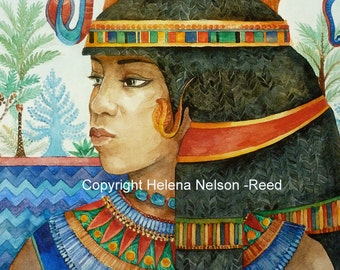 Beautiful Ancient Egyptian Mother Goddess Temple giclee