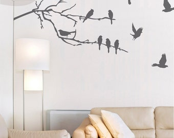 Branches and Birds - Vinyl Wall Decal