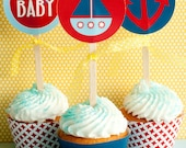 Preppy Nautical Baby Shower PRINTABLE Party Circles from Love The Day