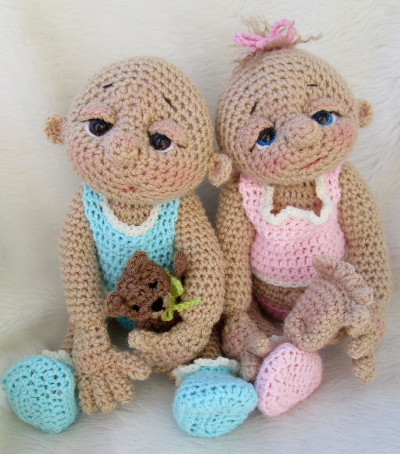 So Cute Baby Doll Crochet Pattern with Teddy by TeriCrewsCrochet