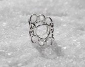 Silver Ring, Circles ring, Handmade Jewelry, Sterling Silver Circles Ring, Circle Jewelry, Silver Jewelry, Holiday Gift