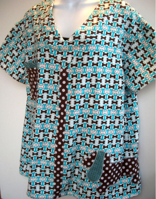 Dachshund Pajamas In Blue Bone Flannel W Applique By Dogbarks
