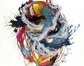 Coil XII / Giclee print / multiple sizes / watercolor / abstract painting / contemporary / detailed