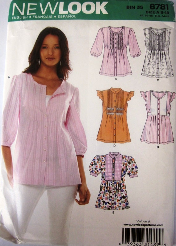 New Look 6781 Womens Blouse Pattern