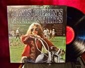JANICE JOPLIN - Janice Joplin's Greatest Hits - 1973 Vintage Vinyl Record Album