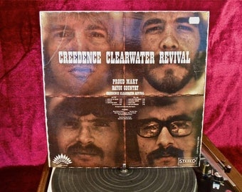 CREEDENCE CLEARWATER REVIVAL - Creedence Clearwater Revival - 1960s Vintage Vinyl Record Album...French Pressing
