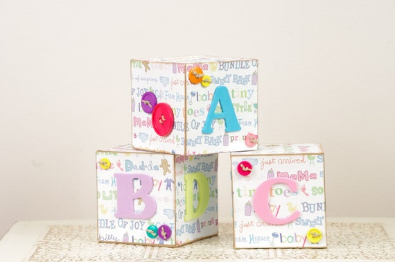abc blocks baby girl room decor baby shower decoration custom