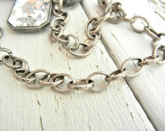 FIVE Feet Antique SILVER Finish CELTIC Chain - 6.45 x 9.11mm LInks - Price is for Five Feet