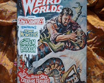 Weird Worlds no 10 issued 1970 Horror Vampire Atomic Monster Outer Space Creature Outer Space Graphic Illustration