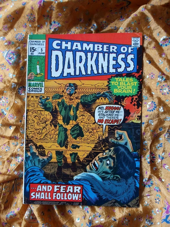Chamber Of Darkness No 5 Marvel Comics 1970 Horror Monster Fear Sci Fi  HP Lovecraft  Jack Kirby Reinman Craig Music Beyond Beast Bog