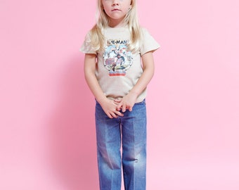 Vintage 80s He Man Tee Masters of the Universe -Childrens vintage apparel size 6/8 boys girls