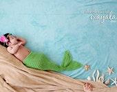 Mermaid tail, crochet mermaid tail set, crochet Halloween costume, newborn photo prop, custom crochet tail, baby mermaid tail