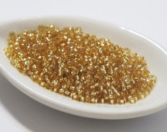 Silver Lined Gold 11/0 Seed Beads 10 grams Miyuki #3