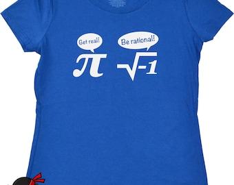 Womens math tshirt pi geekery mathematics t shirt school geeky nerd fraction tee girls ladies girlfriend teen girl royal blue screenprint