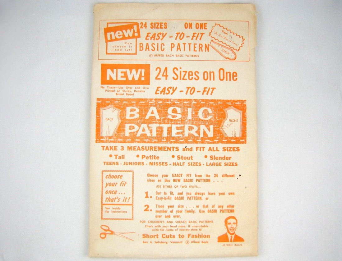 Vintage sewing alfred bachs basic pattern and design by numbers photo courtesy of friskyscissors on etsy jeuxipadfo Choice Image