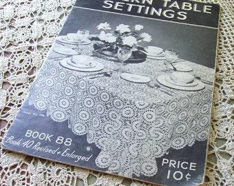 1930s Vintage Crochet Design Instruction Booklet 30s Modern Table Settings