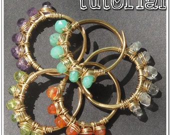 Wire Jewelry Tutorial: How to Make Wirewrapped Adjustable size Gemstone Stack Rings, PDF , Jewelry Making Instructional How-To
