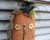HALLOWEEN Pumpkin Bag with WITCH MOUSE Tuck