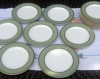 Taylor Smith Taylor Classic Heritage Celadon Green Pattern - Bread and Butter Plates - Set of 4 (2 sets available)