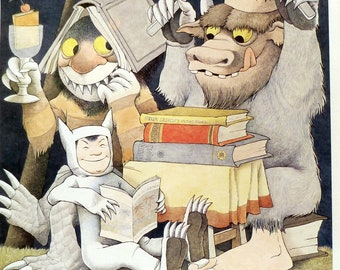 Maurice Sendak - Reading Is Fun -  International Year of the Child - Great for Nursery or Child's Room - Vintage poster print