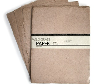 "25 Shts Deckled/Natural 8.5"" x 11"" Printable Natural Paper (Deckled Edge) (Natural) PH0212"