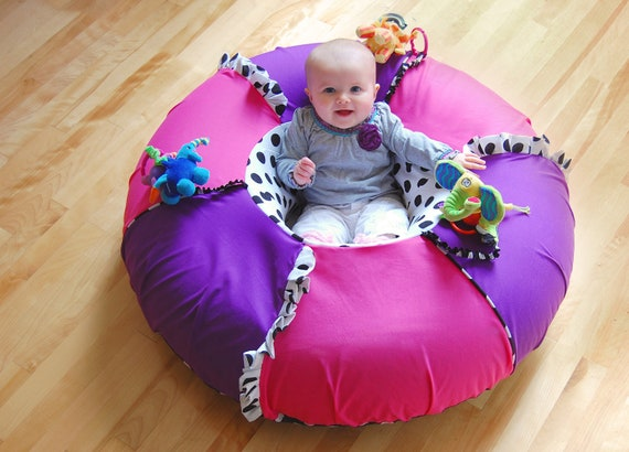 Baby Saucer Chair Baby sit and play tube, Sit me up donut, Inflatable seat with crinkle ...
