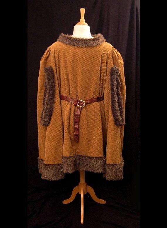 Fur-Trimmed Medieval Renaissance Gardecorps Overtunic