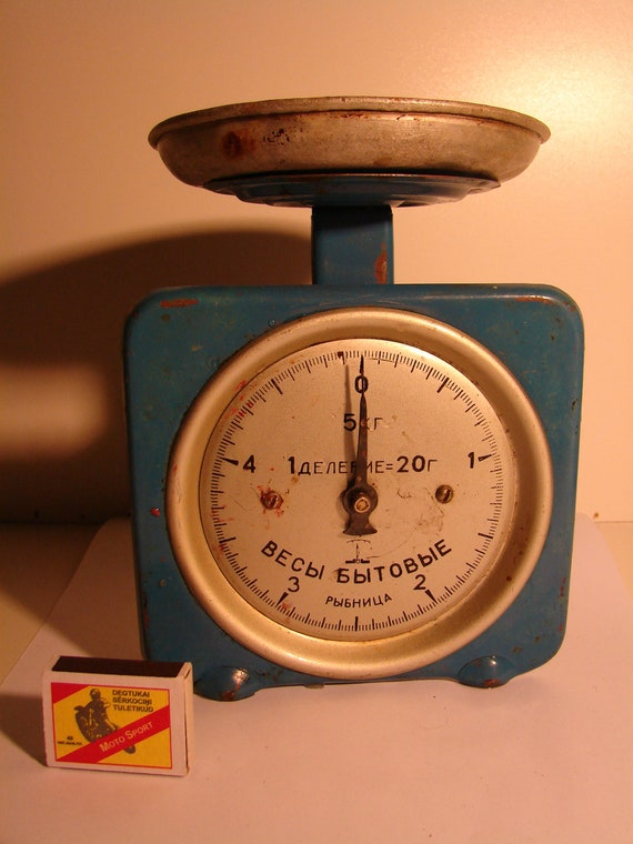 Soviet vintage scale ussr era 1970s rustic kitchen scale for Rustic kitchen scale