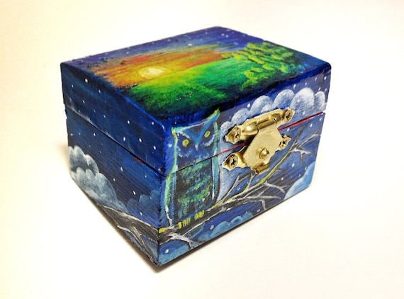 hand painted wooden boxes 2