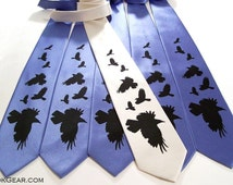 Necktie custom crow tie men necktie by RokGear