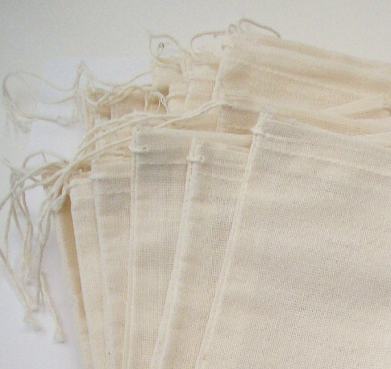 5X7 Muslin Bags - 20 pack - Fabric Gift  Storage and Jewelry Packaging
