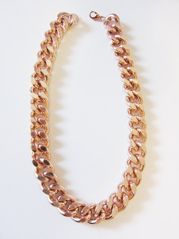 Etsy Chain Necklace Rose Gold Chain Necklace