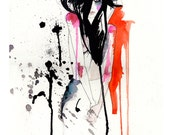 Crush // FASHION ILLUSTRATION // A3 Giclée print from an original illustration by Holly Sharpe