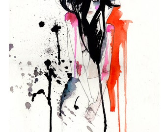 Crush // FASHION ILLUSTRATION // Giclée print from an original illustration by Holly Sharpe