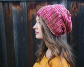 Slouchy Knit Hat // Autumn Colors // Knit Slouchy Beanie // Boho Chic