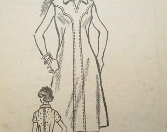Mail Order 4698 Western Rockabilly Princess Seam Dress Vintage Sewing Pattern Bust 40 Factory Folds