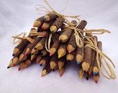 6 Bundles of Color Twig Pencils - Wedding Activities, Children Activity, Children Gift, Wedding and Party Supply
