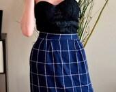 SALE 50% off Vintage 80s / Pencil skirt / high waist / lined /
