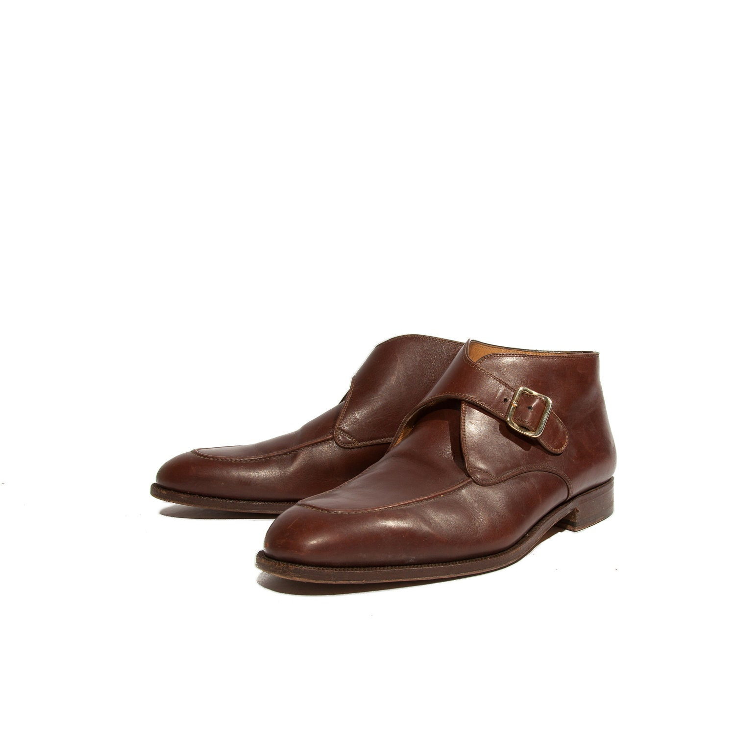 s bally monk ankle boots saddle brown dress
