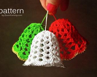 Crochet Pattern - Crochet Christmas Bells (Pattern No. 020) - INSTANT DIGITAL DOWNLOAD