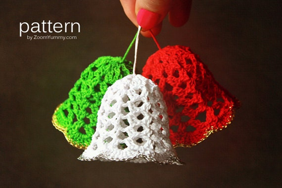 Crochet Pattern Crochet Christmas Bells Pattern No. 020